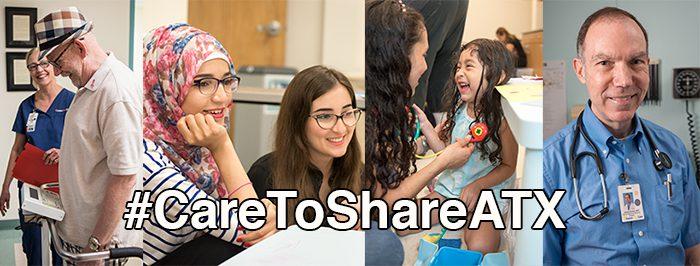 #CareToShareATX