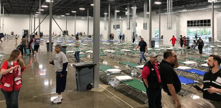 CommUnityCare, Dell Medical School, Central Health Setting Up Medical Clinic Inside Austin Mega Shelter