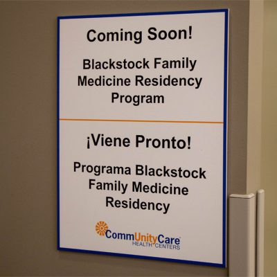 Coming Soon! Blackstock Family Medicine Residency Program