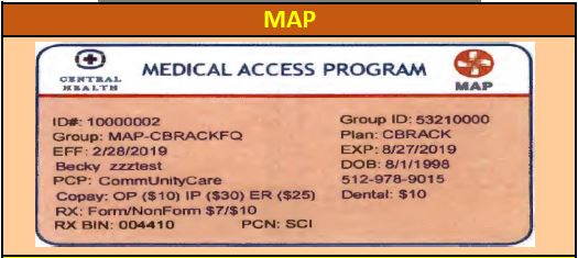 How to read a MAP/MAP BASIC identification card - Central Health